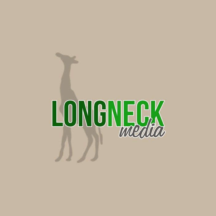 long neck media logo design acworth